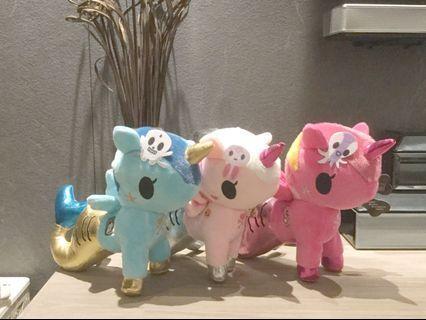 Unicorno Plushies 3 for $25