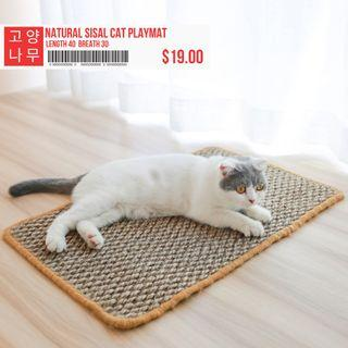 🚚 Natural Sisal Cat Playmat