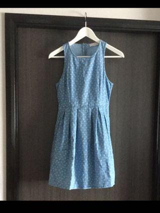 Love Bonito Denim Blue Skater Dress
