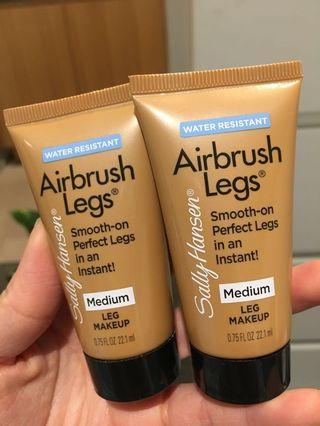 BRAND NEW 2x Sally Hansen Airbrush Legs in Medium - Tan Leg Makeup