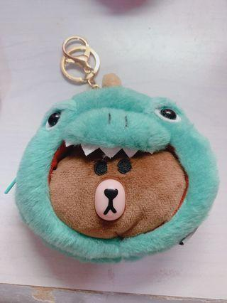 Coin Pouch - LINE BEAR WITH COSTUME