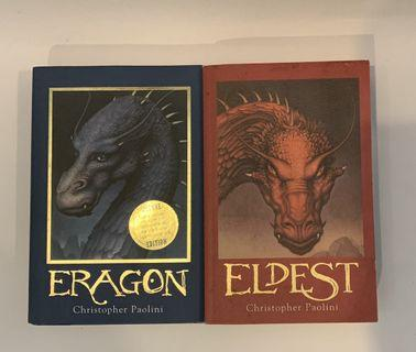 Dragon and Eldest by Christopher Paolini