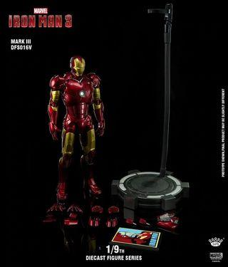 Hot King Arts 1/9 Diecast DFS016- Iron Man Mark 3  Toys