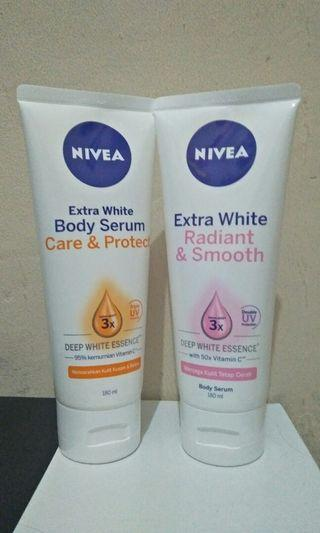 Nivea Body Serum Bundling Care&Protect dan Radiant&Smooth