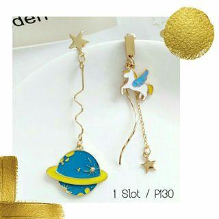 Unicorn & Saturn Earrings