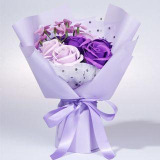 All I Ever Want Is You – Rose Soap Small Bouquet (Purple)  我只想要你:韓式香皂玫瑰小花束(紫色)