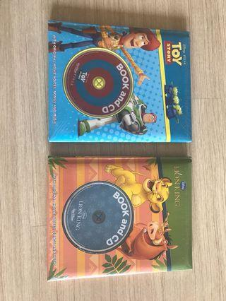 New Disney story books Toy Story and Lion King