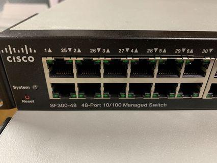 Cisco SF300 48port 10/100 switch