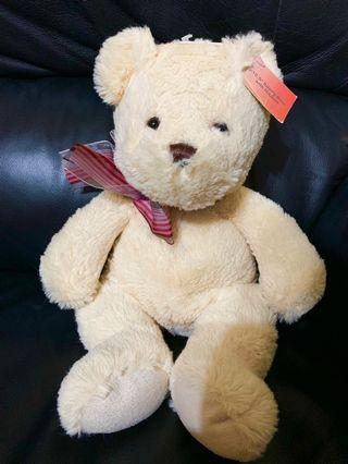 (New) 10.5'' Sitting Bear with Ribbon 毛公仔