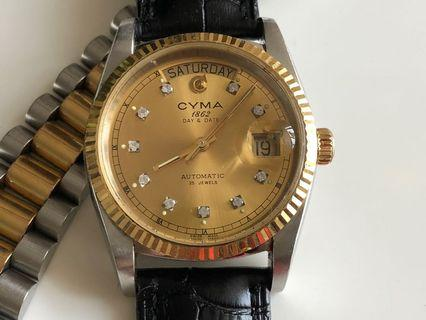 司馬 CYMA Day-Date Automatic Watch
