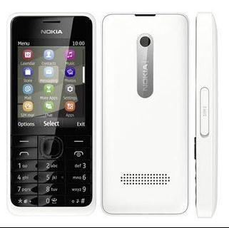 Nokia 301 (3G) - True Vintage Set - White - Premium Candybar