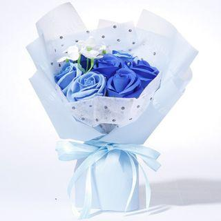 All I Ever Want Is You – Rose Soap Small Bouquet (Blue)  我只想要你:韓式香皂玫瑰小花束(藍色)
