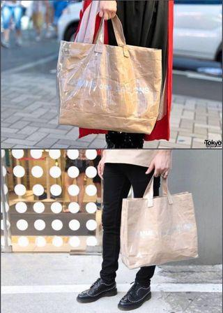 Comme des Garçons CDG Shopper Tote Paper Plastic Large