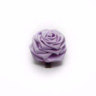 Tsumami kanzashi rose in lavender purple, Traditional Japanese hair accessory