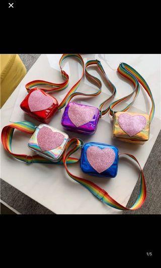 PO kids Sling bag brand new 5 colors Available ht 11cm wt13cm