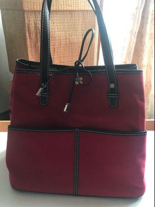 Kate Spade Vintage Preppy Maroon Red Bucket Bag #mauvivo