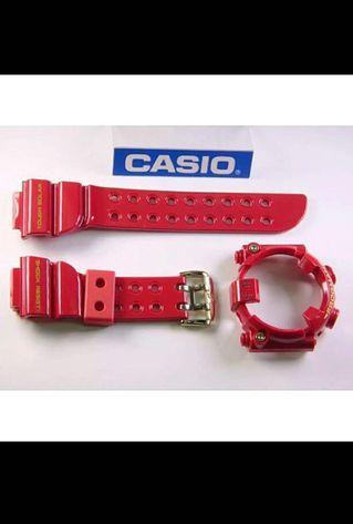 100% Authentic new Casio G-Shock 30th Anniversary Rising Red Frogman GF-8230A-4 Band and Bezel with Studs set limited edition rare