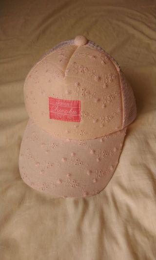 小童通花刺綉粉色鴨舌帽 Pink cap