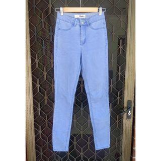 SUPRE Light Blue Skinny Jeans High Waisted Denim High Waist Slim Fit Tube Missguided Nastygal Cotton On JayJays