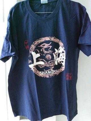 Kaos Shanghai biru dongker