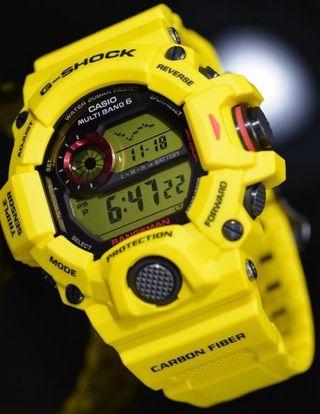 100% Authentic new, rare, Casio G-Shock Lighting Yellow Rangeman GW-9430E-9 30th Anniversary Watch