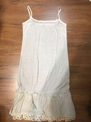 Greyish Off-White Petticoat Dress