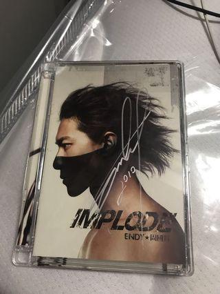 周國賢 Implode 親筆簽名CD