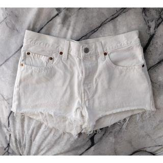 LEVIS 501 Shorts Lost Horizon White Denim Short Shorts Authentic Levi Denim Distressed Bleached Ripped