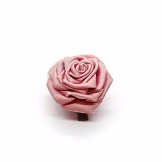 Tsumami kanzashi rose in cherry pink, Traditional Japanese hair accessory