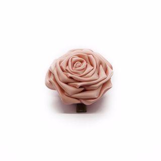 Tsumami kanzashi rose in carnation pink, Traditional Japanese hair accessory