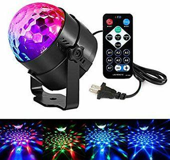 Disco Lights LED Party Lights Sound Activated Strobe Light Stage Light Disco Ball Dj Lights for Christmas Birthday Wedding DJ Karaoke Show Club Festival Home outdoor (Full color -2)