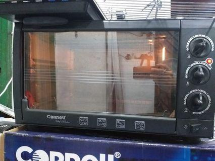Cornell Oven CEO-E431BL retail: $149 Features 220-240V / 50/60Hz / 2000W Capacity - 43L 60 mins timer with chime Adjustable thermostat from 100 °C to 250 °C Rotisserie function, Convection fan...