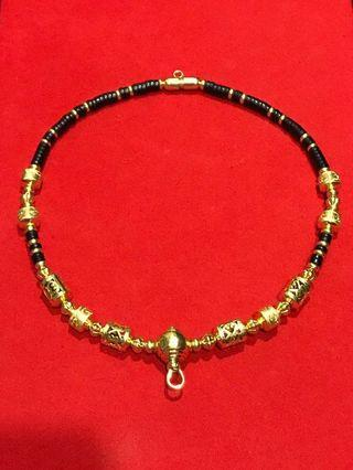 Thai real gold beads necklace for sale