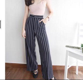 Striped long pants,  very good quality of material!