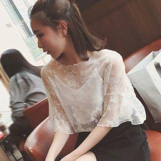 White lace top (2 pcs in 1 set)