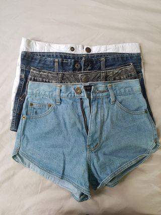 🚚 High Waisted Denim Shorts