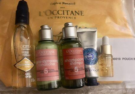 L'OCCITANE Travel Set 5件旅行裝連化妝袋