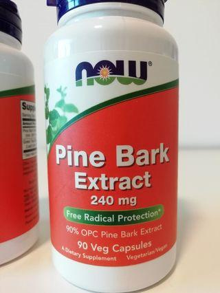 Pine Bark Extract 240mg + Green Tea 100mg Capsules 90's - Suitable for Vegans and Vegetarians