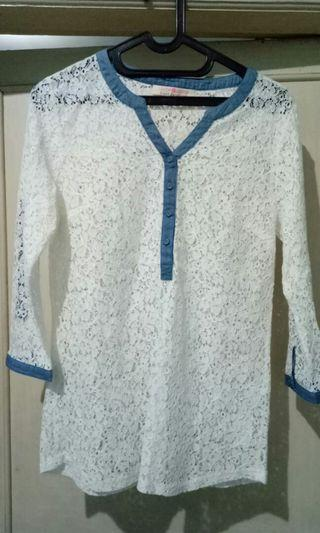 Chace chace brokat casual blus #mauvivo