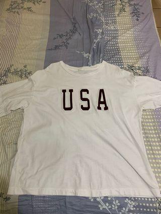 🚚 GU USA白T