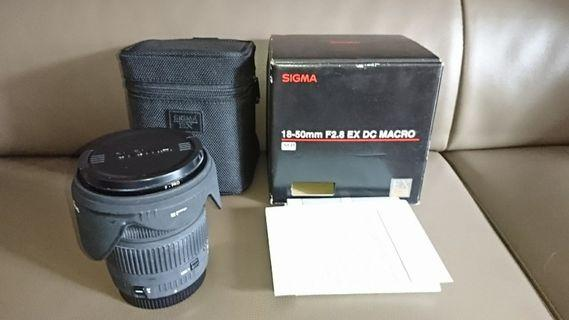 Sigma 18-50mm f/2.8 MACRO (Canon mount) 送 Canon 450 D body