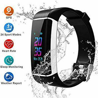 YOUNGDO GPS Fitness Tracker, Color Screen Activity Tracker Watch with Heart Rate Monitor, Built-in GPS,with 24 Sport Modes, IPX67 Waterproof Bluetooth Smart Wristband with Step Counter, Calorie Counte