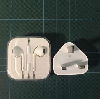 iPhone 原廠耳筒+插頭