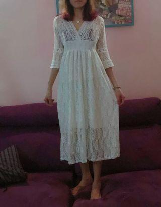白色彈性洋裝