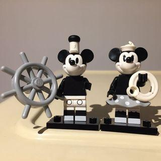 set of 2 Lego Minifigures Minnie & Mickey Mouse