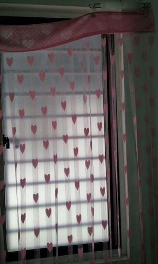 Pink purple lace curtain#RayaHome