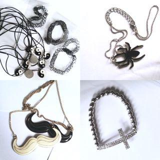 Tattoo Chokers Yinyang Spiderman Necklace Bracelet