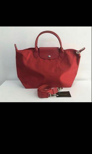 Longchamp Medium Neo Red