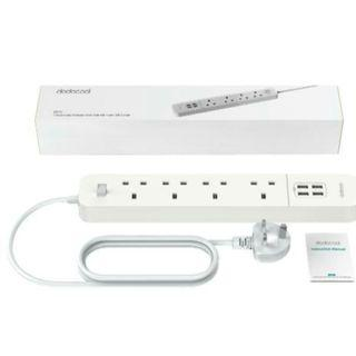 Dodocool DC44 4-outlet Surge Protector Power Strip with 4 USB Charger