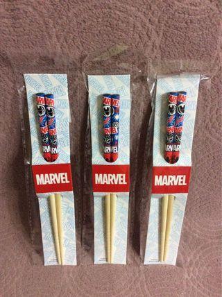 Marvel正品筷子 一對$20、三對$50